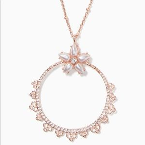 ♠️ Kate Spade Chantilly Charm Rose Gold necklace